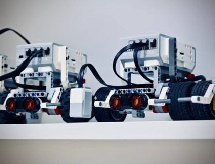 Small robotic cars integrated with artificial intelligence (AI)
