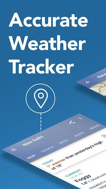 Screenshot of AccuWeather app