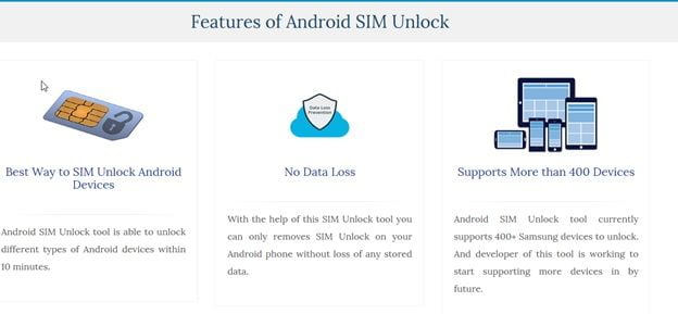 Features of Android SIM unlock