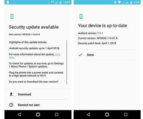 April Android Security Update Available for Moto G5s Plus