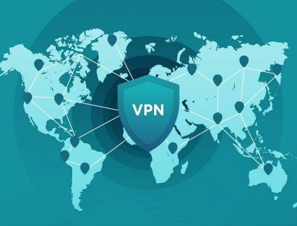 VPN connections showing on the World map
