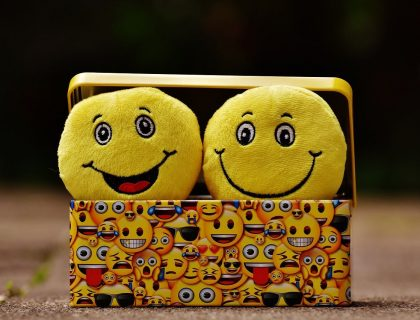 Cheerful Emojis in a box