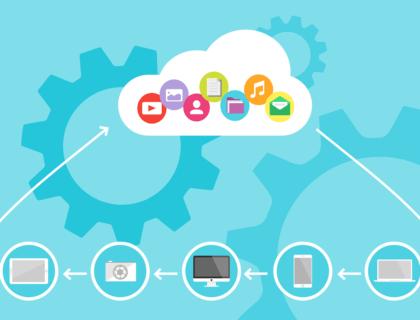 Illustration of Cloud computing solutions