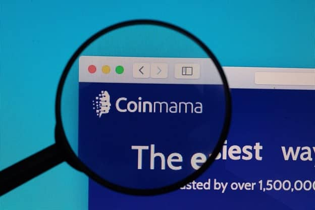 Screenshot of the Coinmama website