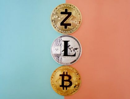 3 different cryptocurrencies including Bitcoin