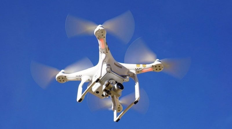 Drone with camera for full HD recording