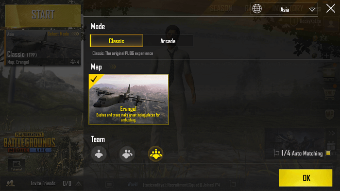 Erangel map available for playing on PUBG Mobile Lite