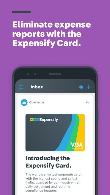 Screenshot of Expensify app