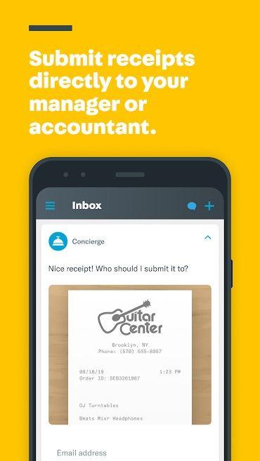 Screenshot of Expensify app
