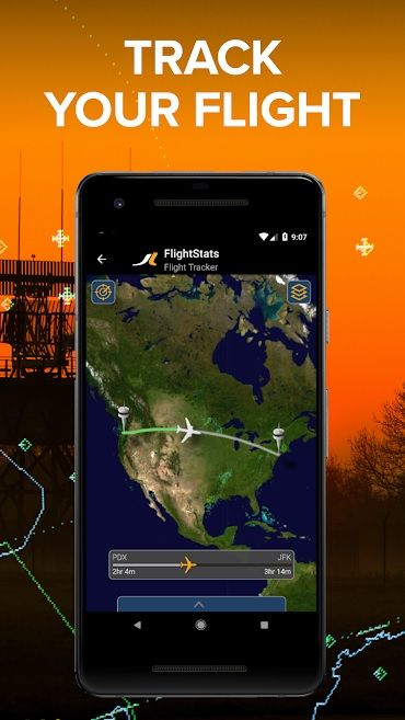 Screenshot of FlightStats app