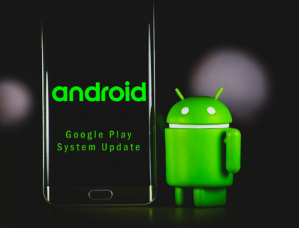 An Android smartphone and Android symbol