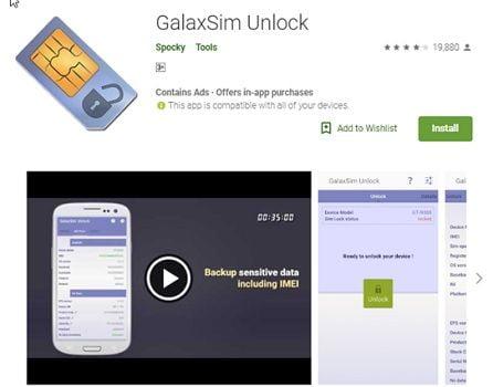 GalaxSim Unlock Android App