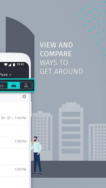 Screenshot of HERE WeGo app