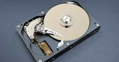 Look inside the hard disk