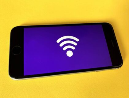 Wifi icon visible on a smartphone screen