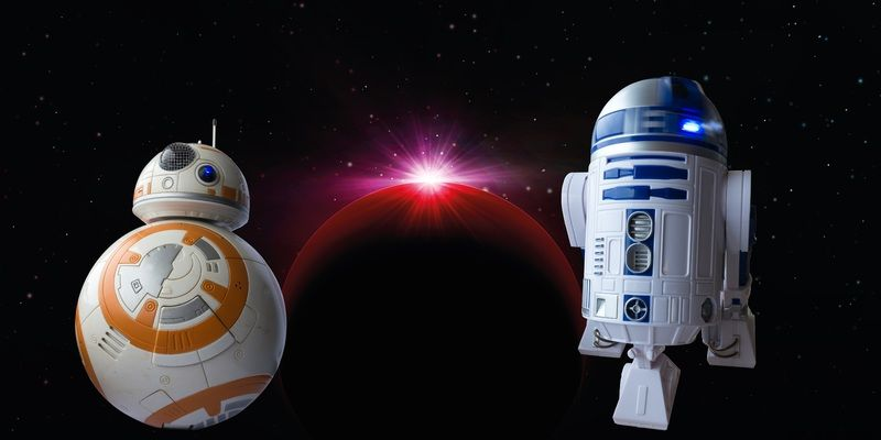 Droid and a Satellite into the Space