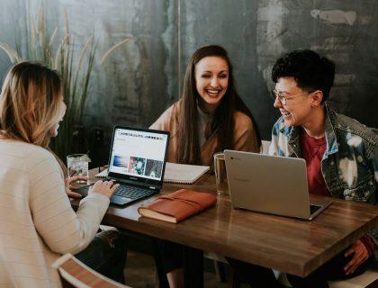 Millennials working as a team member