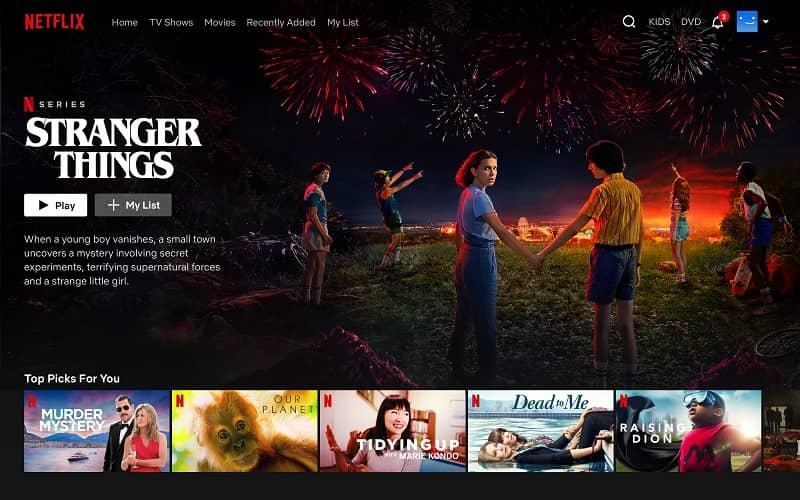 Some popular Netflix shows