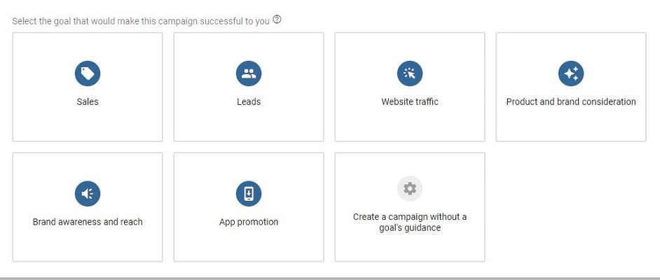 Types of PPC campaigns in Google Ads