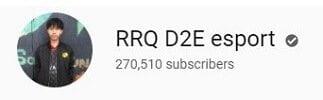 RRQ D2E sport di YouTube