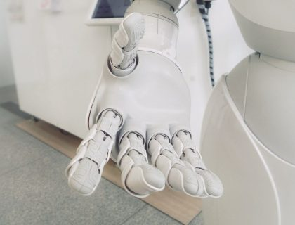 Hand of a AI powered Robot