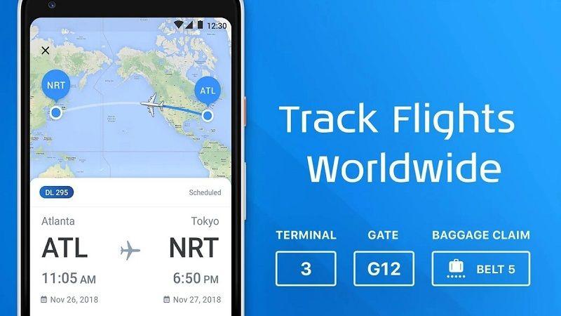 Screenshot of The Flight Tracker app