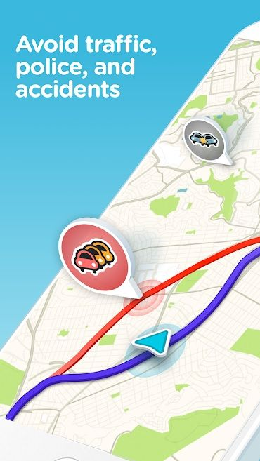Screenshot of Waze app