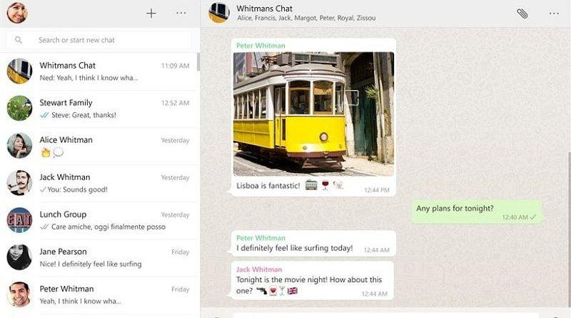 WhatApp Desktop App for Windows 10 Released