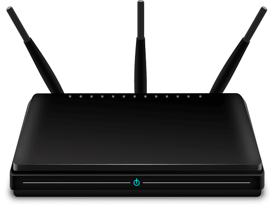 Wifi router with three antenna