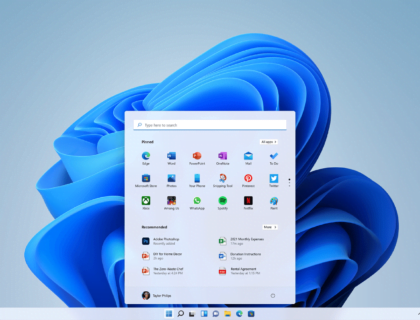 Home (Desktop) screen of Windows 11