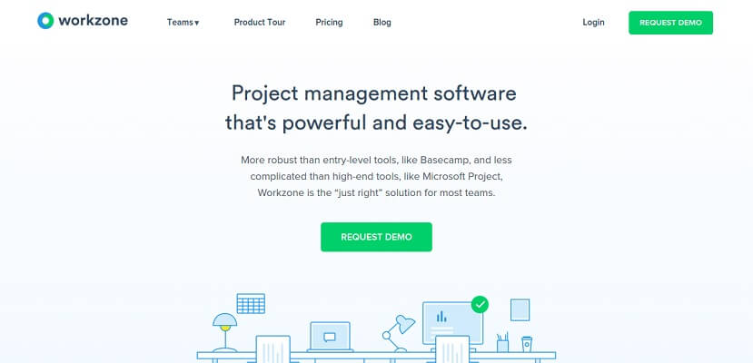 Workzone - An online project management software